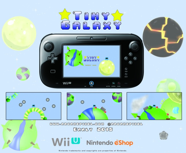 Tiny Galaxy is slated to come out on Wii U in early 2015 on the eShop!