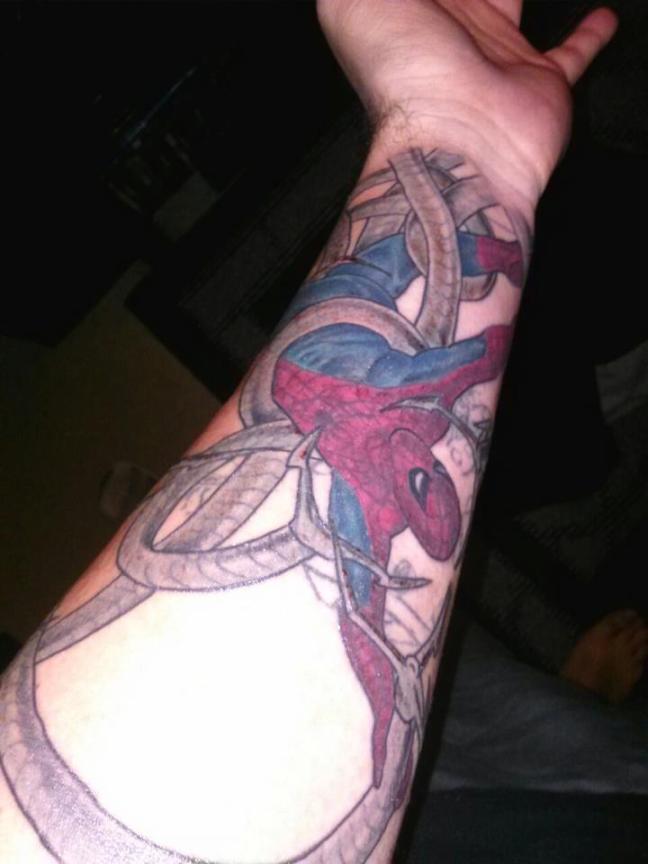 Sweet Spidey tattoo!