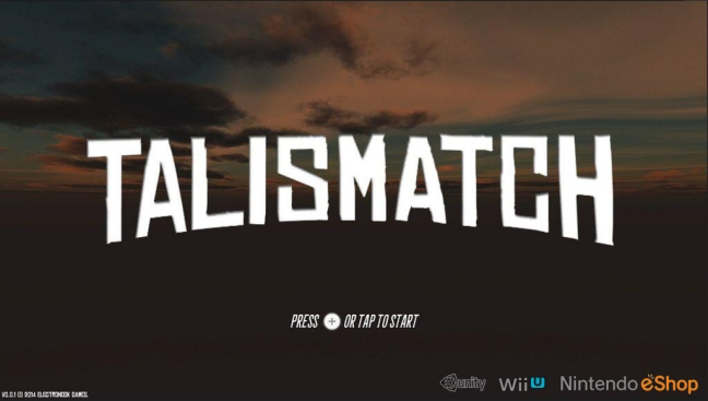 Talismatch is a game Adam is working on for the Wii U