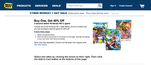 This deal has great titles, like Wind Waker HD, Super Mario 3D World, and Smash Bros. for Wii U